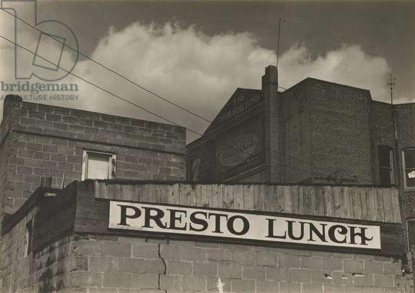 Presto Lunch, 1932 (gelatin silver print)