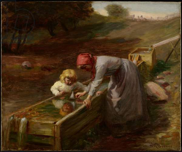 At the Spring, c.1895 (oil on canvas)