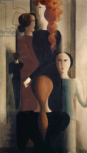 Women on Stairway, 1925 (oil on canvas)
