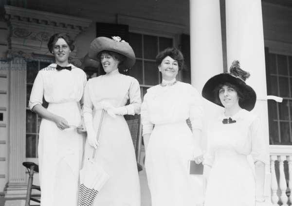 Woodrow Wilson's wife and daughter_ Left to right: Jessie, Eleanor, Mrs. Ellen Wilson, Margaret in 1912