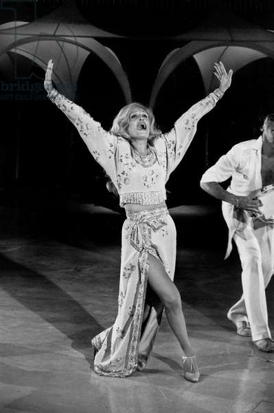 Singer Dalida on TV Programme June 16, 1980 (b/w photo)