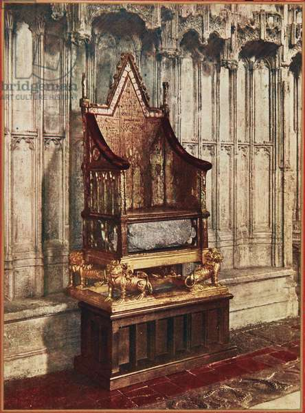 The Coronation Chair in Westminster Abbey