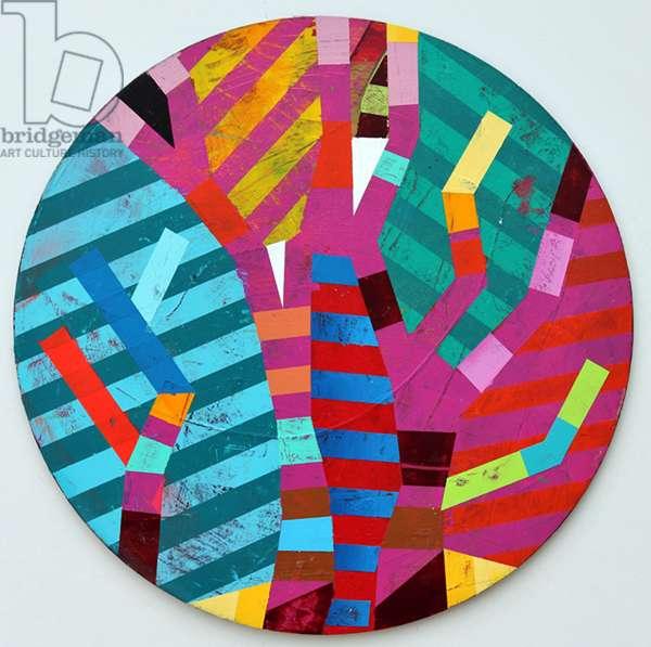 Twixt Heaven & Earth XVII-A (acrylic on circular board)