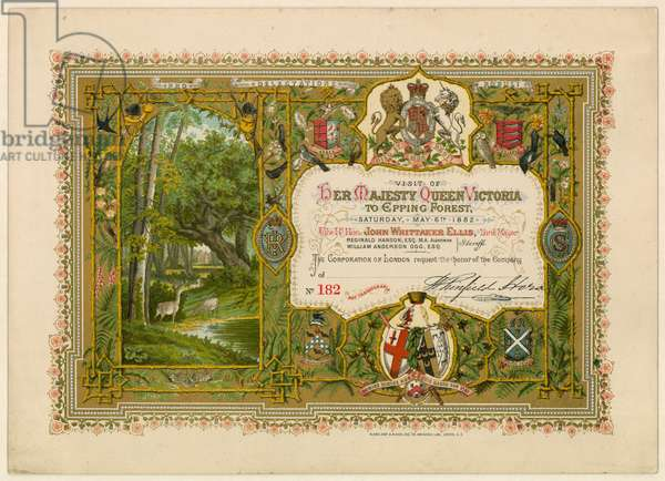 Visit of Queen Victoria to Epping Forest, 1882 (chromolitho)