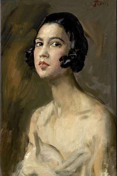 Yvonne, 1922 (oil on canvas)