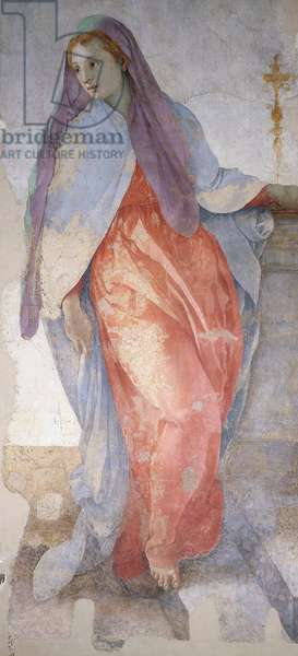 The Annunciation by Giacomo Carucci known as Pontormo (1494-1557), fresco, detail, Capponi Chapel, Church of Santa Felicita, Florence