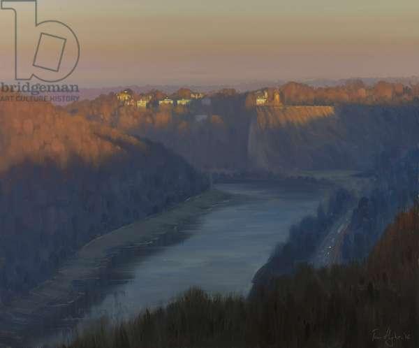 Dawn in the Avon Gorge, December
