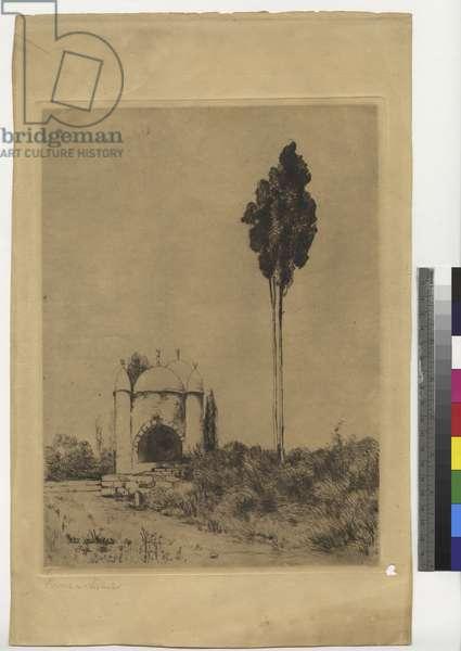 Well near Jaffa, 1903 (ink on paper)