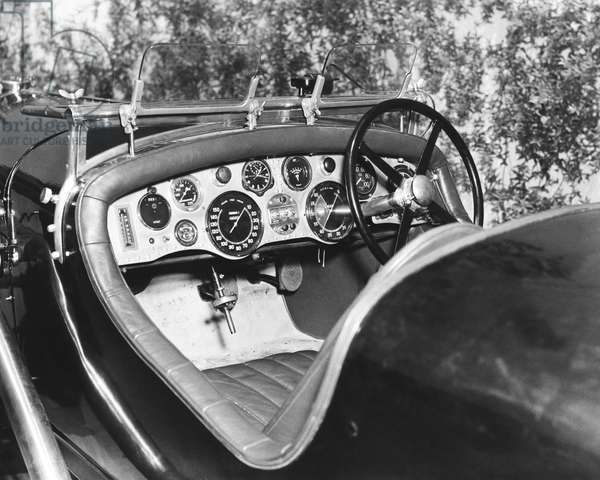 1928 Bentley Dashboard, United States, 1928 (b/w photo)