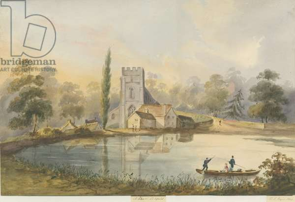 Lichfield - St. Chad's Church: water colour painting, 1844 (painting)