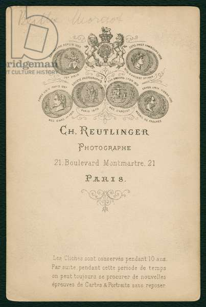 Photographer's imprint (verso of 492914) (printed card)