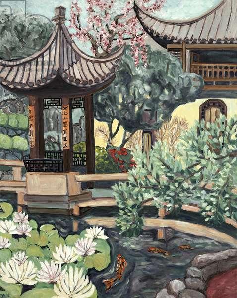 Lansu Garden, 2018, (acrylic on canvas)