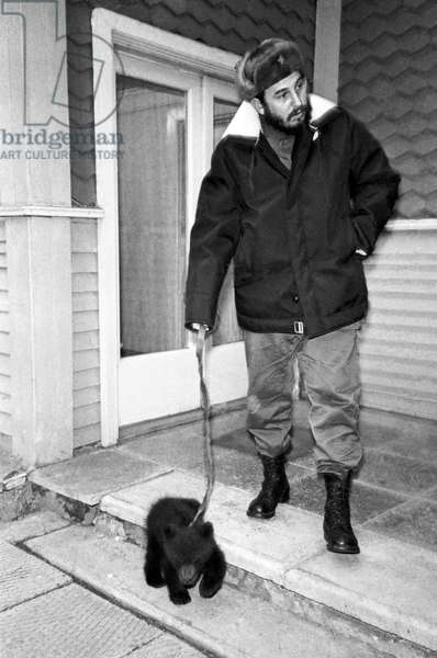 Fidel Castro With A Bear Cub