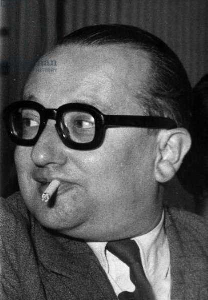 Pierre Commin, Sfio General Secretary, 1956 (b/w photo)
