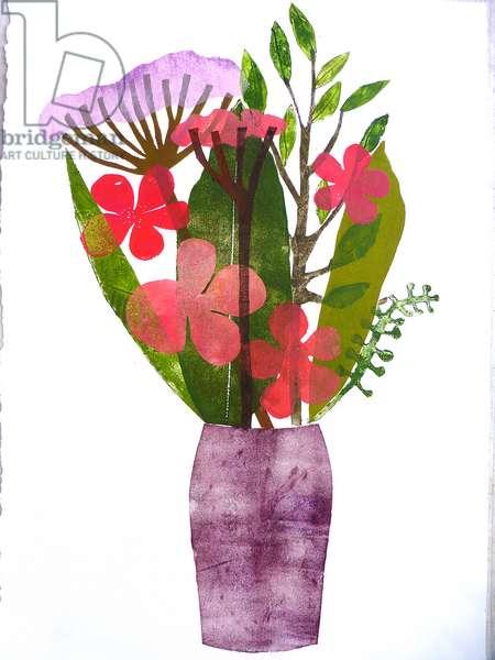 'Purple vase' 2020 (monoprint)