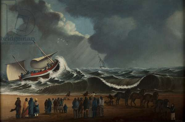Lowestoft Lifeboat, c.1880 (oil on canvas)