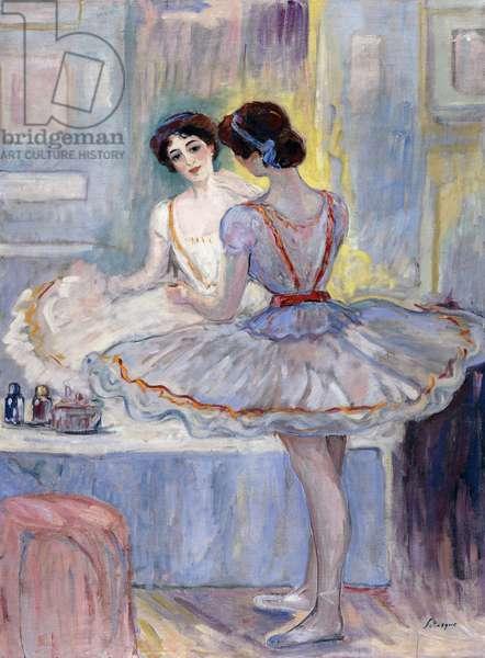 Miss Zambelli in her Dressing Room; Mademoiselle Zambelli dans sa Loge, 1912 (oil on canvas)