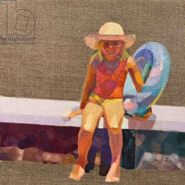 Before the sun fades, 2021, (oil on canvas board)