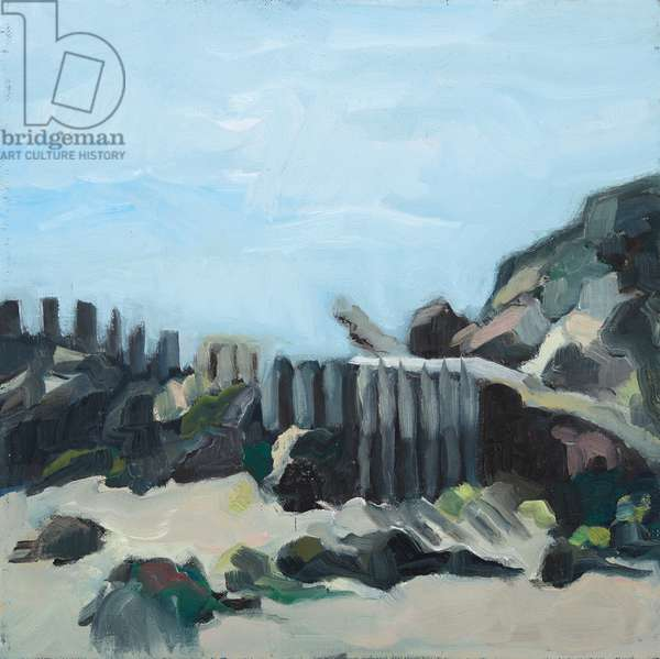 Beach, 2019, oil on canvas