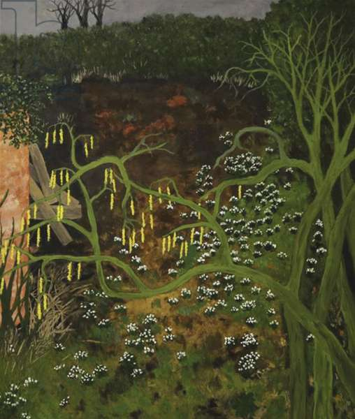 Behind the Potting Shed, 1993 (oil on board)