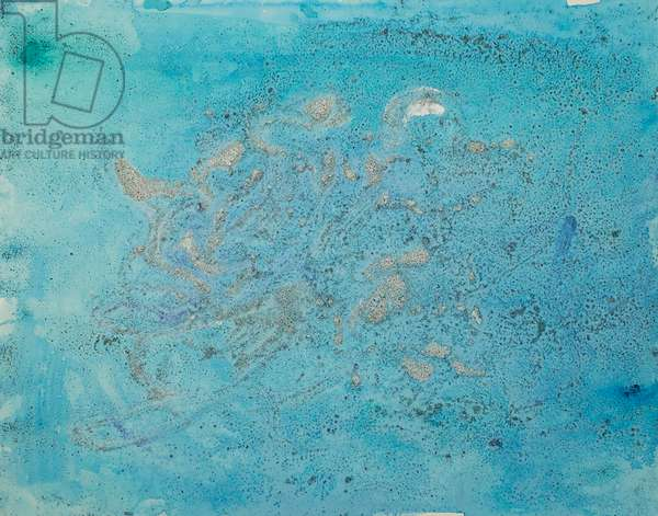 Antarctic Ice Painting: A57, 2008 (Antarctic ice, acrylic, and mixed media on paper)