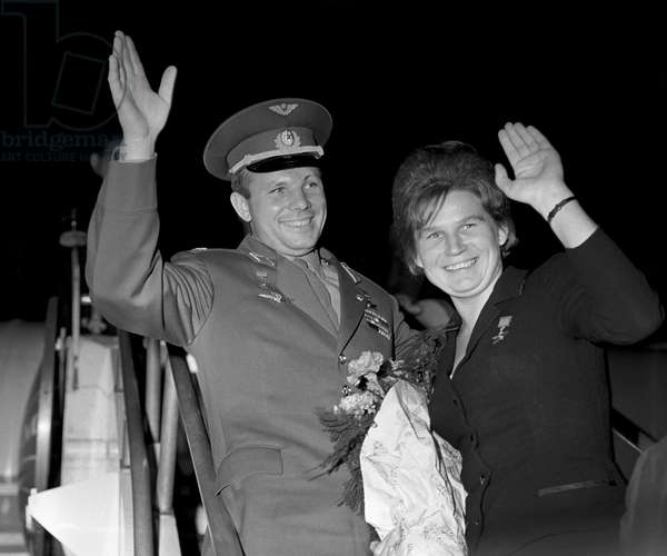 First Soviet Space Pilots Yuri Gagarin And Valentina Tereshkova