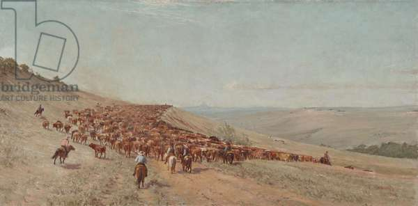 Driving the Herd, 1904 (oil on masonite)