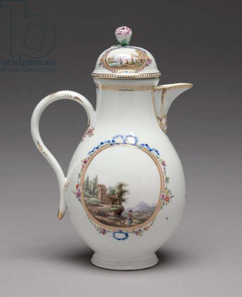 Jug with Cover, made by Meissen Porcelain Factory, 1774-1814 (porcelain)