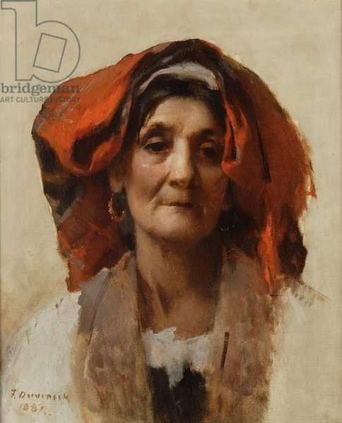 Head of an Italian Woman, 1887 (oil on canvas)