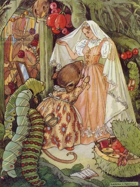 Hans Christian Andersen story: Thumbkin (colour litho)