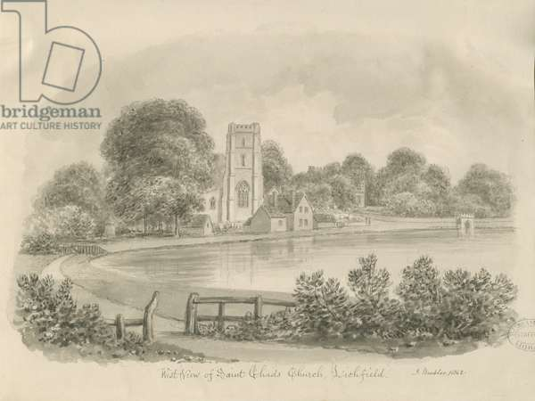 Lichfield - St. Chad's Church: sepia drawing, 1842 (drawing)