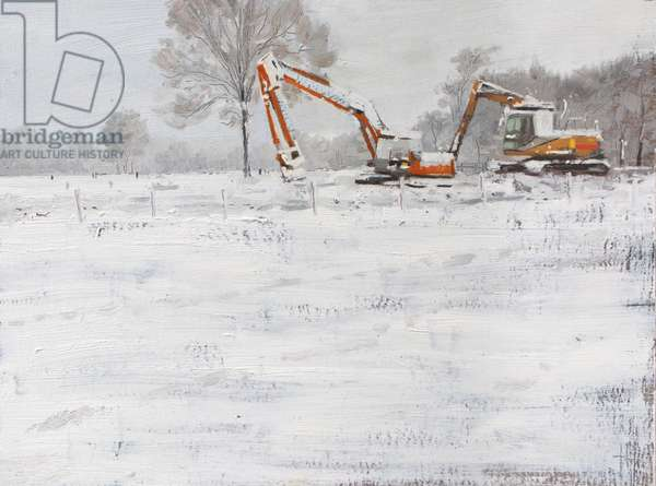 Diggers in snow January