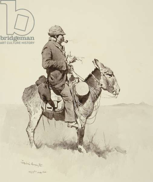 Jack's Man William, A Modern Sancho Panza, (brush and ink wash, pen and ink on gouache on paper)