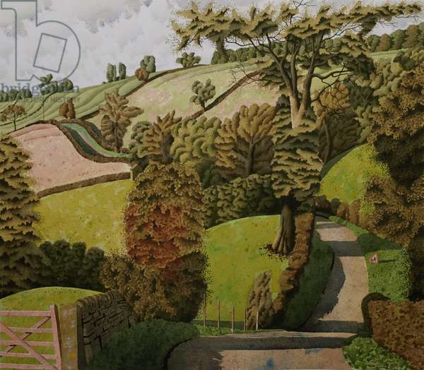 Behind Firs Farm, 2016 (w/c with ink & gouache on paper)
