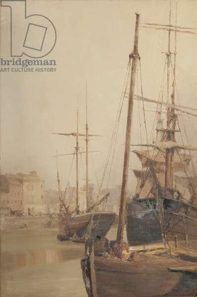 Douglas harbour, 1901 (oil on canvas)