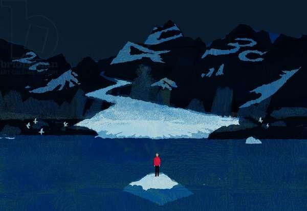 A glacier, 2016, (digital)