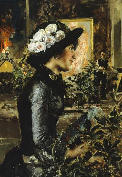 The Model, by Antonio Mancini, 1879, oil on canvas