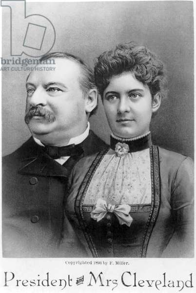 President and Mrs. Cleveland, F. Miller, 1893 (b/w photo)