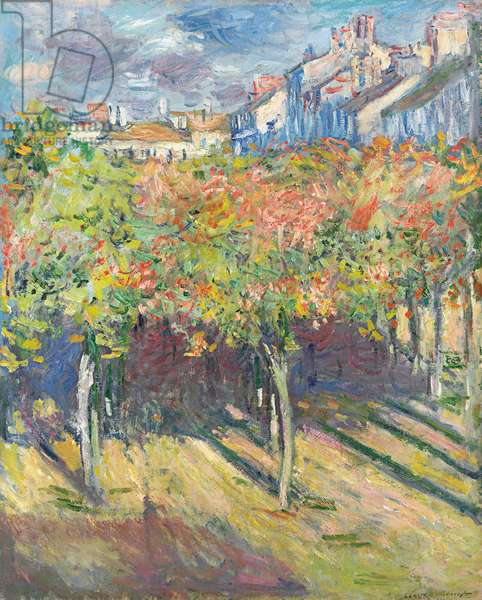 The Lime Trees at Poissy; Les tilleuls a Poissy, 1882 (oil on canvas)
