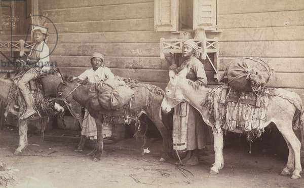 Country Folk Starting Out For Kingston, c.1890 (b/w photo)