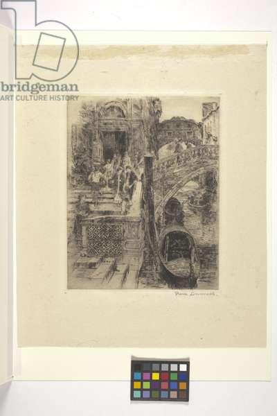 Bridge Of Sighs, Venice  (Plate 1) (ink)