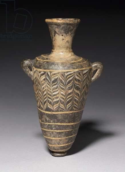 Unguent Bottle, or Amphoriskos, 18th to 19th Dynasty, 1549-1296 BC (glass)