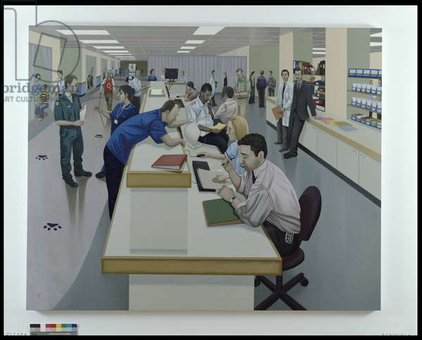 The Desk, 2005 (oil on linen)