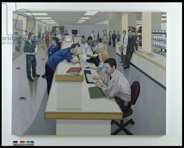 The Desk, 2005 (oil on linen)