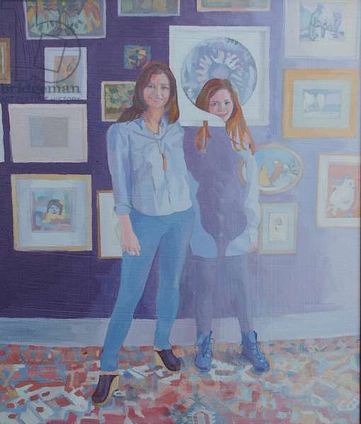 'Inevitable - Annika', 2014, (oil on canvas)