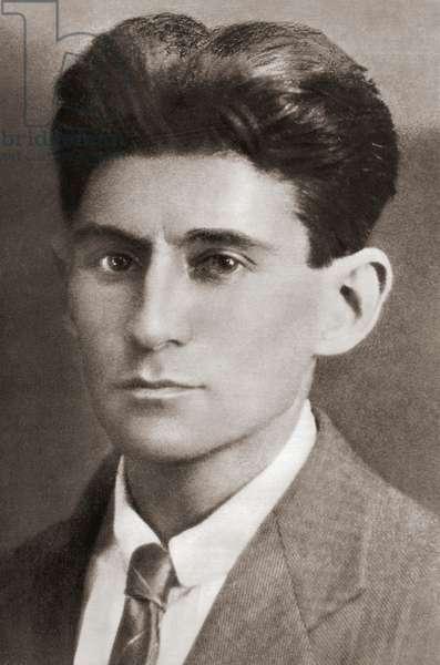 Franz Kafka, after a contemporary print