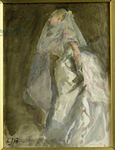 The Bride, c.1880 (w/c on paper)