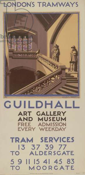 Guildhall Art Gallery And Museum, 1927 (colour litho)