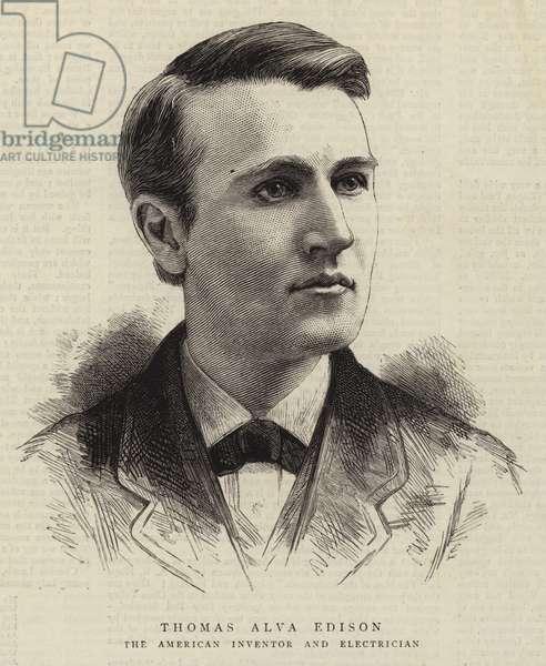 Thomas Alva Edison (engraving)