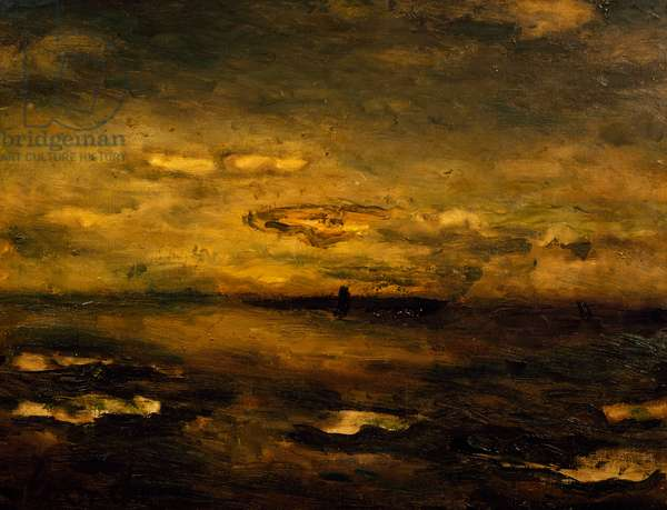 Twilight, 1925, by Constant Permeke (1886-1952). Belgium, 20th century.